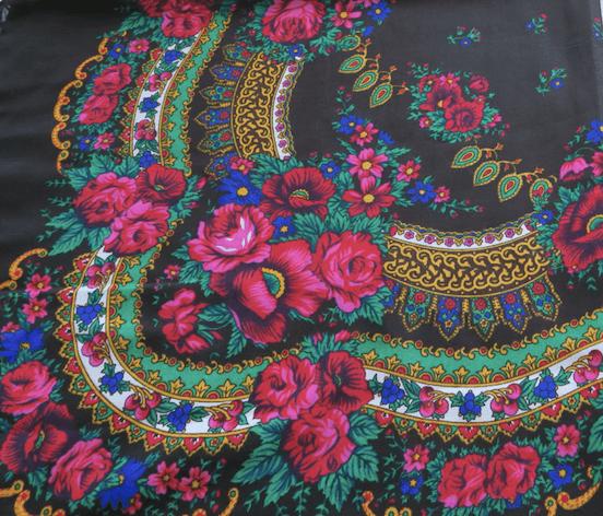 foulard balte, 100% coton, châle ukrainien, fleurs, flowers, scarves, coste billy, fashion, 2018, 2019, flash