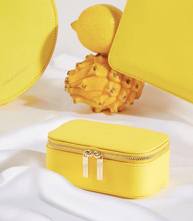 toujours populaire pas cher plusieurs couleurs Mini boite à bijoux de voyage jaune