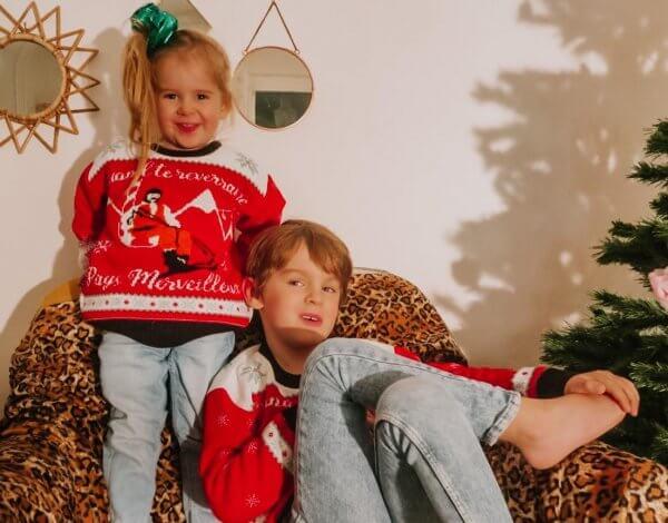 pull de noël, noël, christmas, xmas, xmas jumper, jumper, Odette et Lulu, concept store, les bronzés font du ski, awkward family, picture, enfant, kid, createurs, concept store