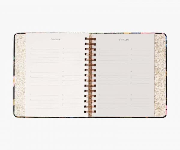 agenda, 17 mois, rifle paper co, Odette et Lulu, 2021, créateurs, pièces limitées, papeterie de luxe