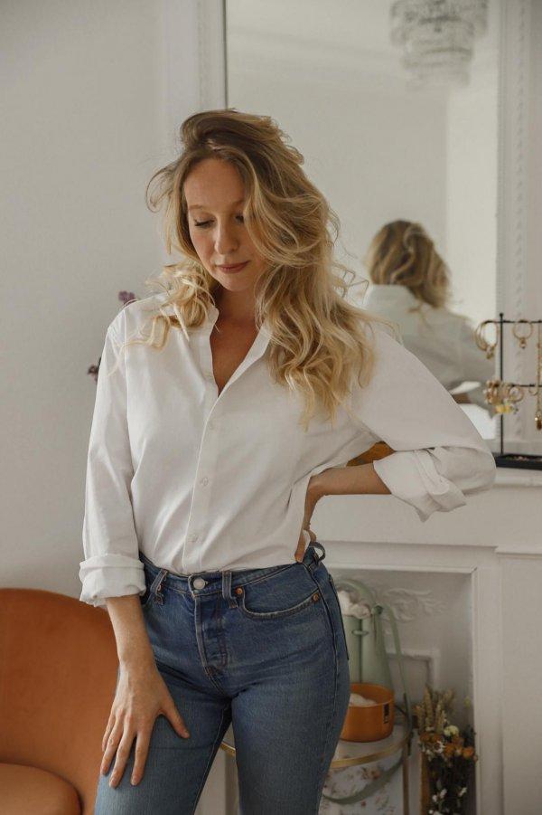 chemise, boyfriend, lulu, Odette et Lulu, blanche, boyish, dégaine, créateurs, concept store, odette et lulu, éclore