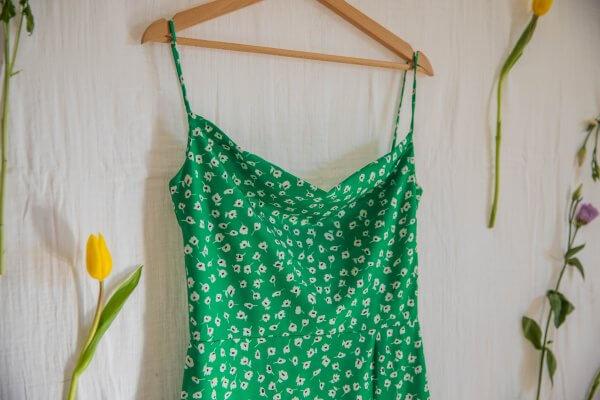 robe suzette, robe femme, printemps, été, sucrette, enfant, maman, petite fille, matchy matchy, liberty, vert, émeraude, concept store, createurs